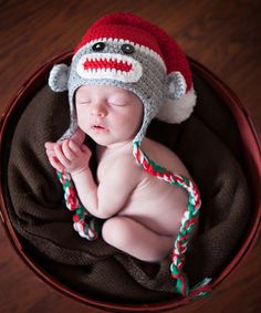 Another great find on #zulily! Gray Santa Sock Monkey Crochet Earflap Beanie #zulilyfinds