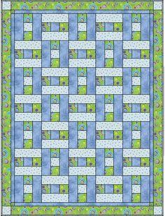 3 fabric quilt.