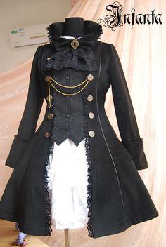 lovely black overcoat