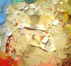 TJ Moberg peeled paint layered with epoxy