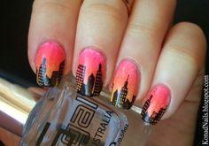 Bundle Monster Skyline nail art