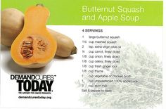 Butternut Squash and Apple Soup – Rich in Antioxidants.  Flavorful and rich in antioxidants, this Butternut Squash and Apple soup provides a wholesome meal and is easy to make. This recipe is from the Wholesome Temptations Cookbook, courtesy of Cancer Treatment Centers of America and Rising Tide.