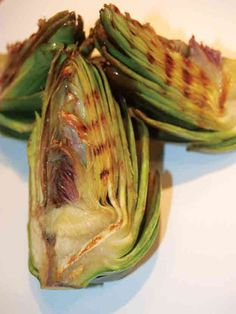 Braised and Grilled Artichokes