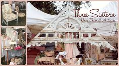 """TVM September 5th-7th 2014 Vendors, welcoming """"Three Sisters"""" Home Décor & Antiques!"""