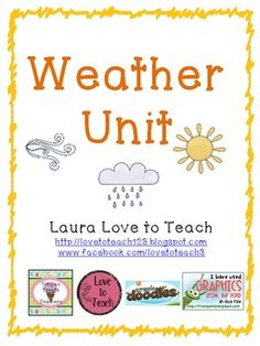Weather Unit for Grades 2-3 $