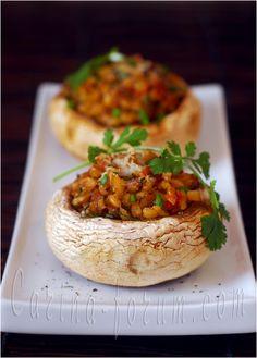 risotto stuffed mushrooms.