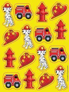 Firefighter Themed Sticker Sheet