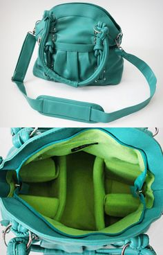 Turquoise camera bag - LOOKS GREAT!