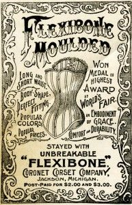 Old Design Shop corset advertisement 1895