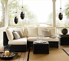 Sit back and relax outside. #potterybarn
