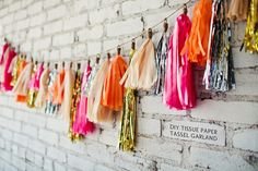 cute tissue paper garland