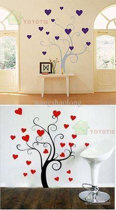 cute wall art tree