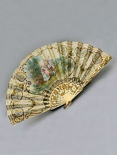 French hand-painted silk fan