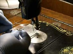 National Two Spool Sewing Machine-Home-made Darning Foot