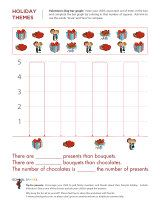Valentine's Day bar graphing activity.  Help your child learn the important comparative terms more than, less than, and equal to.