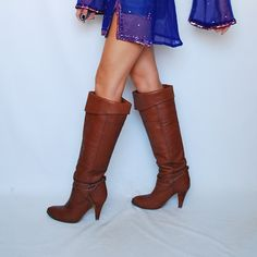 Amazing Vintage OTK Over The Knee High Boots Heels by newagegypsy