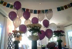 Globos, guirnaldas y flores en el cumpleaños de Victoria Beckham - Balloons, garlands and flowers at Victoria Beckham's birthday