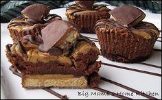Chocolate Peanut Butter Swirl Mini Cheesecakes