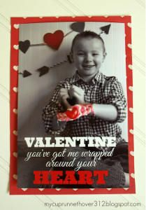 Love Rainbow Loom bracelets? Make these Rainbow Loom Photo Valentines!