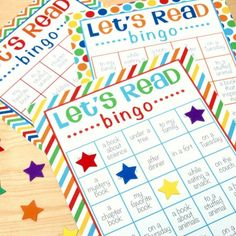 Read and have fun too! Download and print these bingo sheets and then grab a good book with your child.