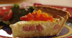 Lovely Leftovers:  Ham and Cheese Quiche  @ThanksGivingLeftovers