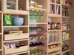 Pantry storage wall.