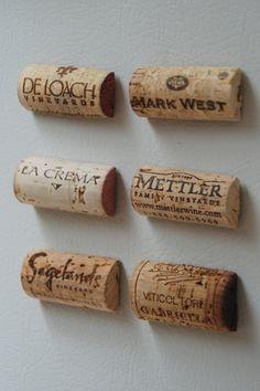 wine cork fridge magnets.