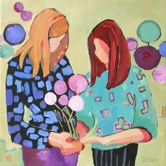 Daily Painting Friendship, painting by artist Carolee Clark