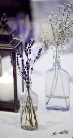 by Mel & Co. Love the lavender & baby's breath