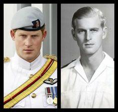 Royal Resemblance - Prince Harry and Prince PhilipYoung Prince Philip Prince Harry