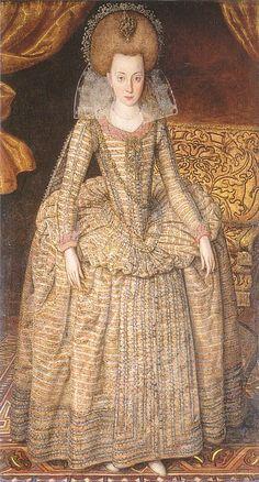 Elizabeth, Queen of Bohemia by Robert Peake, c.1610. (National Portrait Gallery, London)