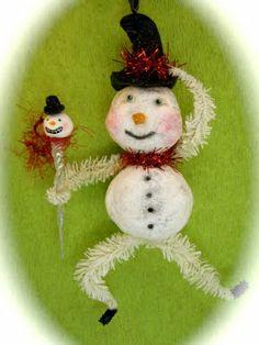 snowi time, special project, cotton spun, felt ing, snowmen iv, craft project, spun cotton