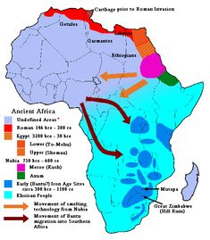 hebrew african kingdoms | Map of Ancient Africa