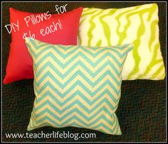 Make your own pillows from Hobby Lobby...who knew?