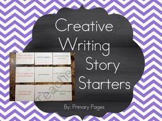 Creative Writing Story Starter Cards from Ms Ginas Class on TeachersNotebook.com -  (60 pages)  - Creative Writing story starters! Perfect for free writing time!