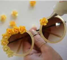 Tutuorial: DIY Embellished Sunglasses - Click the image for the Tutorial!