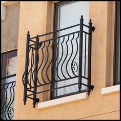 "Palacio Iron Faux Balcony w/ 8"" Offset"