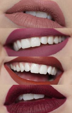 Colourpop Fall Edit Ultra Matte Lip Swatches Top to Bottom: Times Square, Viper, Love Bug, Notion