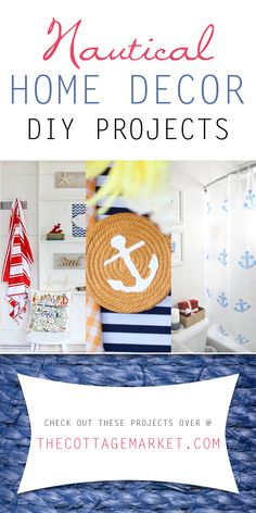 Nautical Home Decor DIY Projects - The Cottage Market