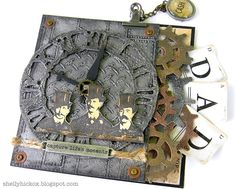 @Shelly Hickox really wows with the fabulous pop up card featuring dies by @Karen Burniston and @Tim Holtz. You can find the details on the Sizzix blog: http://sizzixblog.blogspot.com/2012/06/gearing-up-for-fathers-day.html