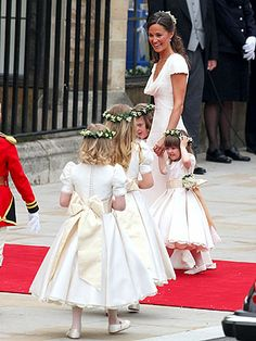 Pippa Middleton and young bridesmaids