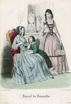 October fashions, 1847 France, Journal des Demoiselles