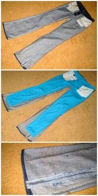 Me: DIY refashioned jeans