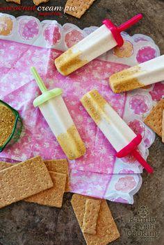 Coconut Cream Pie Popsicles   FamilyFreshCooking.com cream pies, dessert recipes, coconut milk, ice cream, pie recipes, pie fillings, coconut cream, cooking tips, cake recipes