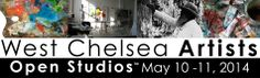 Angela Errico. West Chelsea Artists Open Studios 2014. Public studio tour, May 10-11, 2014.