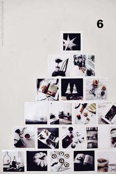 Árbol de Navidad con fotografias