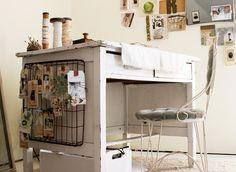Studio--writing desk by Rebecca Sower, via Flickr