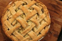 APPLE PIE WITH A BUTTER RUM CREAM SAUCE