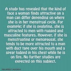 Study on the type of men women find attractive depending on cycle... :)