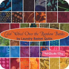 Color Wheel Over the Rainbow Batiks Charm Pack Laundry Basket Quilts for Moda Fabrics - Fat Quarter Shop